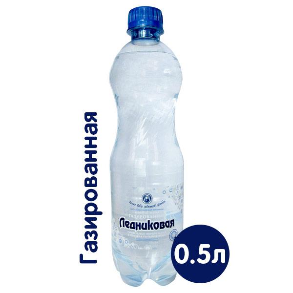 Вода Ледниковая минеральная 0.5 литра, газ, пэт, 12 шт. в уп. фото