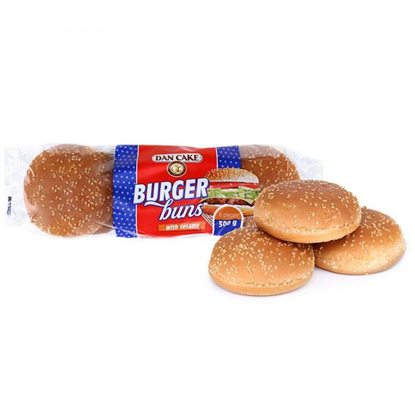 Булочки Dan Cake для гамбургеров с кунжутом 6 шт x 50 гр