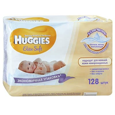 �������� ������� Huggies Elite soft 128��