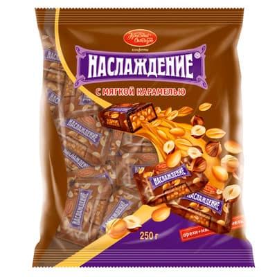 Конфеты Бабаевские Наслаждение с мягкой карамелью 250 гр фото