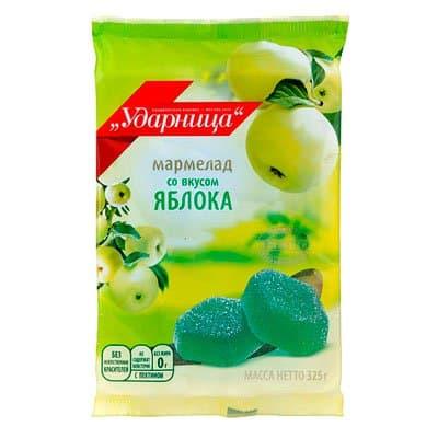 Мармелад Ударница яблоко 325 гр (2шт.)