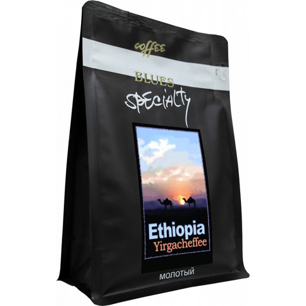 Кофе Blues Эфиопия Иргачиф молотый в/у 200 гр фото
