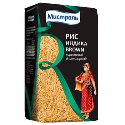 Рис Мистраль Индика Brown коричневый длиннозерный 1кг