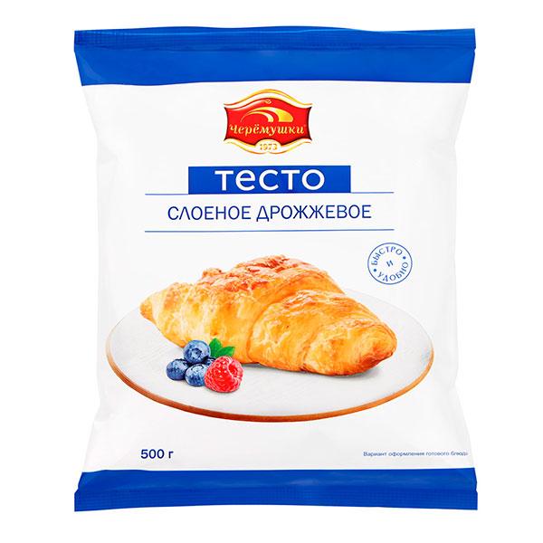 Тесто Черемушки слоеное дрожжевое 500 гр фото