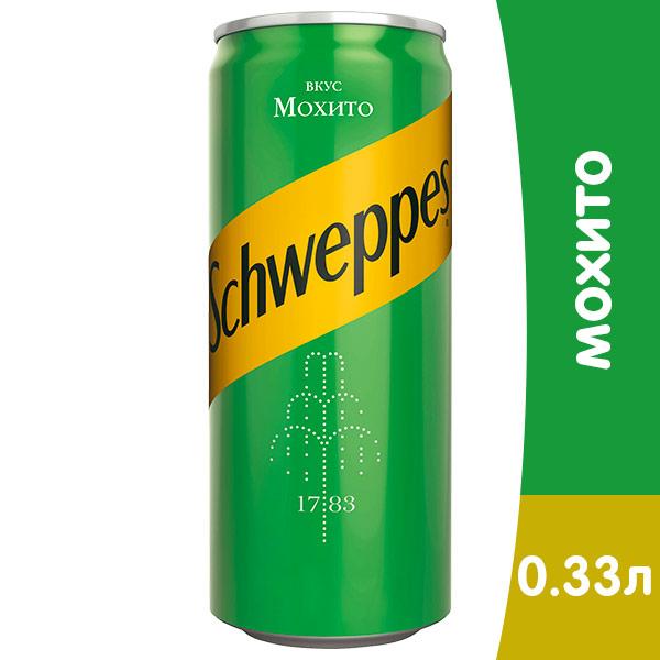 Schweppes / Швепс Мохито 0.33 литра, ж/б, 12 шт. в уп.