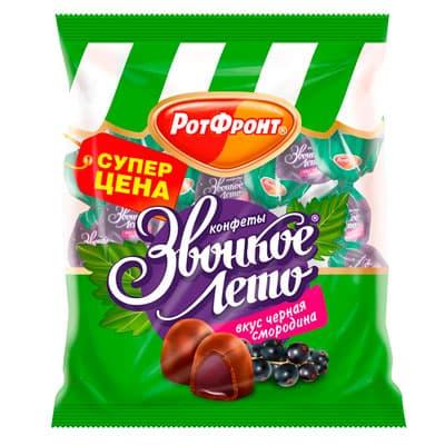 Конфеты Рот Фронт Звонкое лето со вкусом черной смородины 250 гр фото