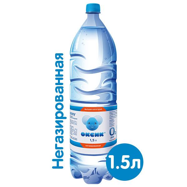 Вода Оксик 1.5 литра, без газа, пэт, 6 шт. в уп. фото