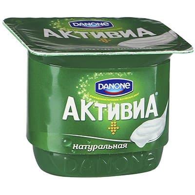 Йогурт Активиа натуральный БЗМЖ 150 гр фото
