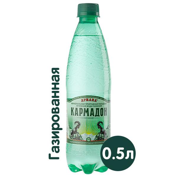 Вода Кармадон Ариана 0.5 литра, газ, пэт, 6 шт. в уп. фото