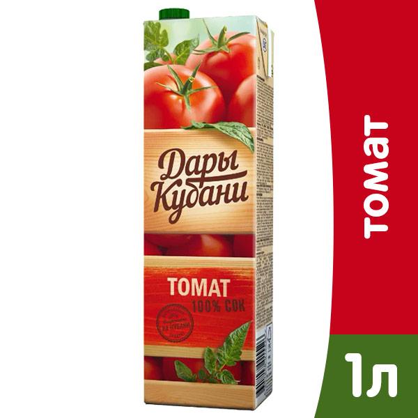 Сок Дары Кубани томат 1 литр, 12 шт. в уп. фото