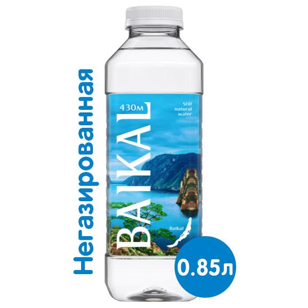 Глубинная байкальская вода Baikal430 0.85 литра, без газа, пэт, 6 шт. в уп. фото