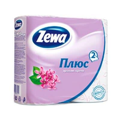 Туалетная бумага Zewa Плюс сирень 2 слоя (4шт) фото