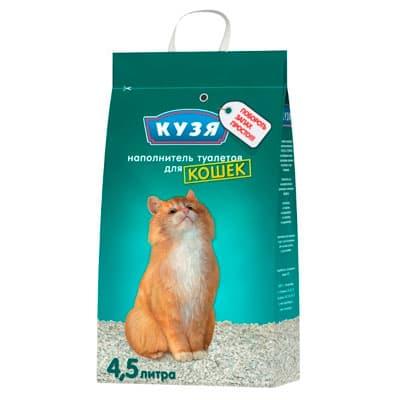 Наполнитель для кошачьих туалетов Кузя впитывающий 4.5 л фото