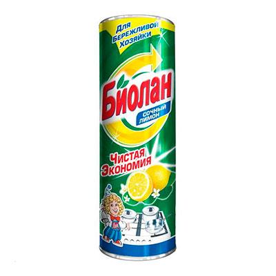 Чистящий порошок Биолан Чистая экономия Лимон 400 гр фото