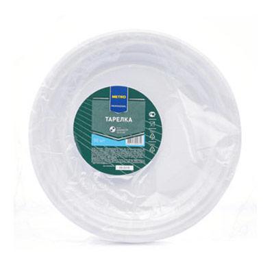 Тарелка пластиковая Metro Professional белая 205мм 50шт