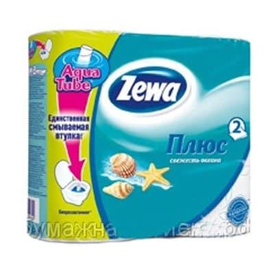 Туалетная бумага Zewa Плюс свежесть океана 2 слоя (4шт.) фото