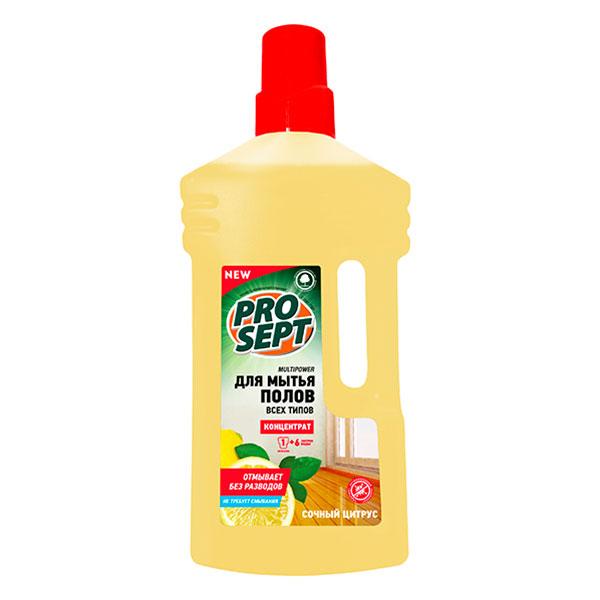 Средство для мытья полов Prosept Multipower цитрус концентрат 1 литр фото