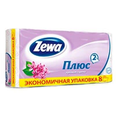 Туалетная бумага Zewa Плюс сирень 2-х сл (8 шт)
