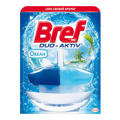 Средство для чистки унитаза Bref duo-aktiv океан 50 мл фото