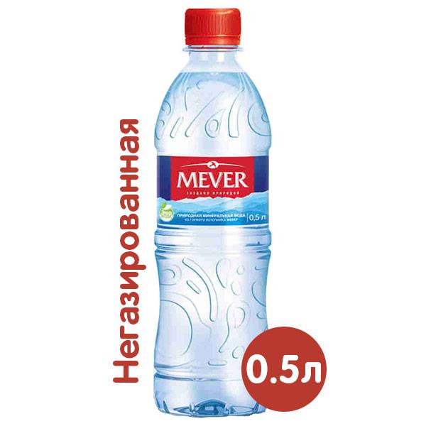 Вода Mever 0.5 литра, без газа, пэт, 12 шт. в уп. фото