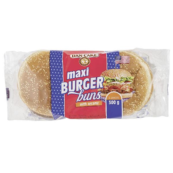 Булочки Dan Cake Макси для гамбургеров с кунжутом 4 шт x 75 гр