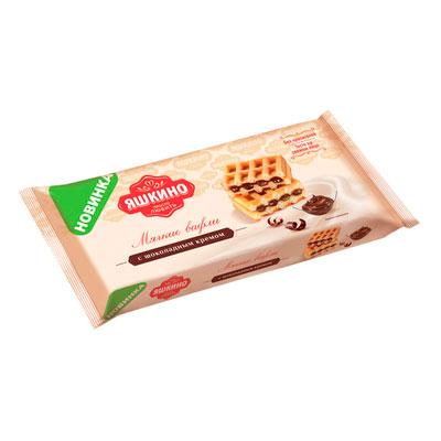 Вафли мягкие Яшкино с шоколадным кремом 120 гр фото