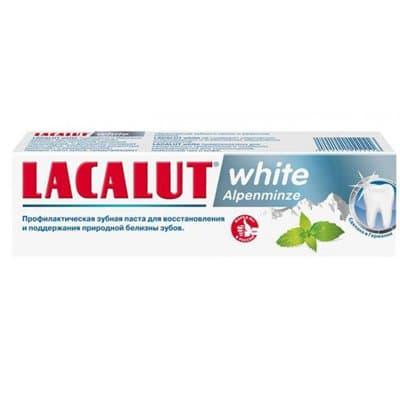 Зубная паста LACALUT white alpenminze (75мл)