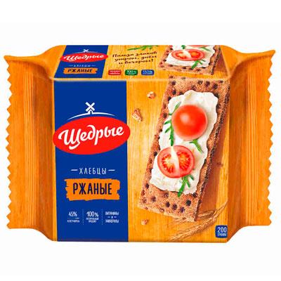Хлебцы Щедрые Ржаные 200 гр