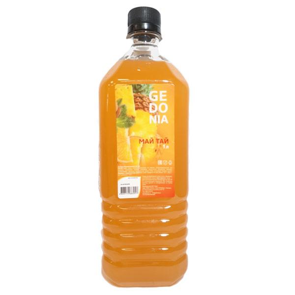 Напиток Gedonia Май тай 1 литр, без газа, пэт, 16 шт. в уп.