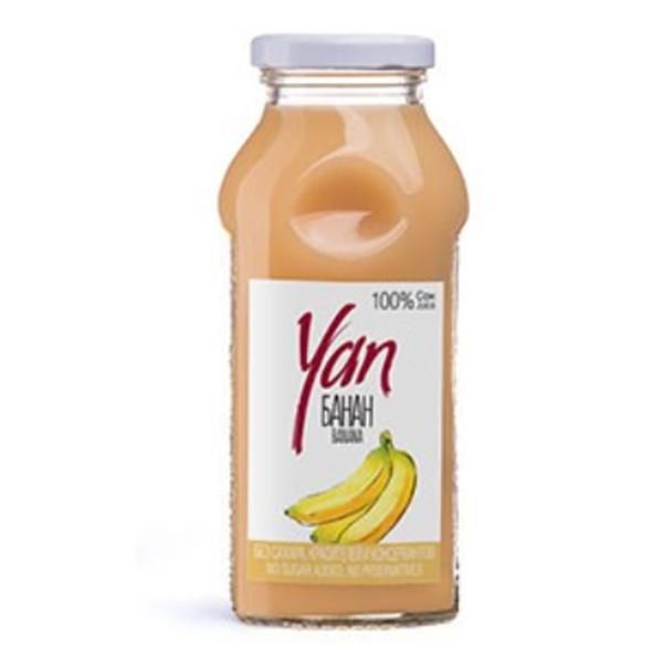 Сок YAN банановый 0.25 литра стекло 12 шт. в уп..