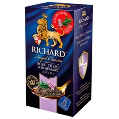 Чай Richard черный Королевский чабрец и розмарин 25 пак фото