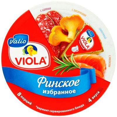 Сыр Valio Виола Финское избранное 8 порций 4 вкуса 50% 130 гр БЗМЖ фото