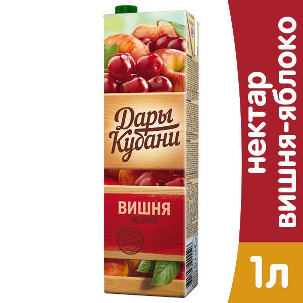 Нектар Дары Кубани вишня-яблоко 1 литр, 12 шт. в уп. фото
