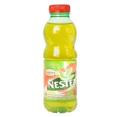 Nestea / Нести Зелёный с клубникой и малиной 0,5л пэт (12шт)