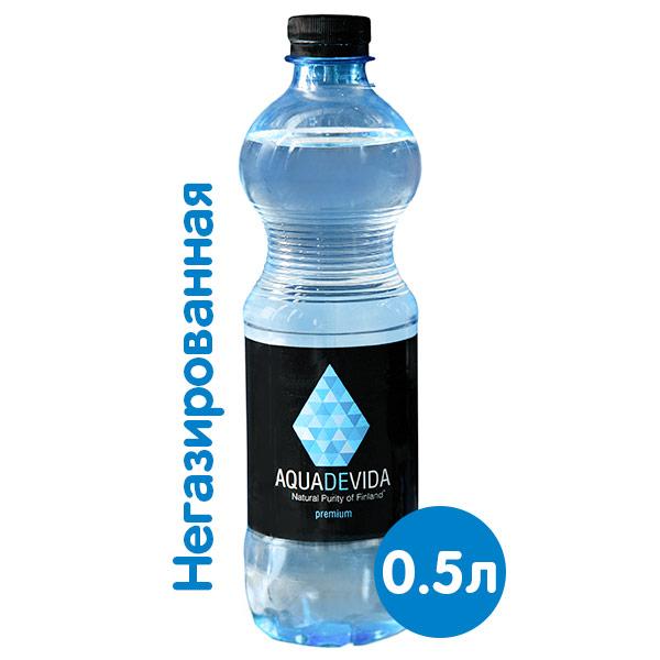 Купить со скидкой Родниковая вода Aquadevida 0.5 литра, без газа, пэт, 12 шт.в уп.