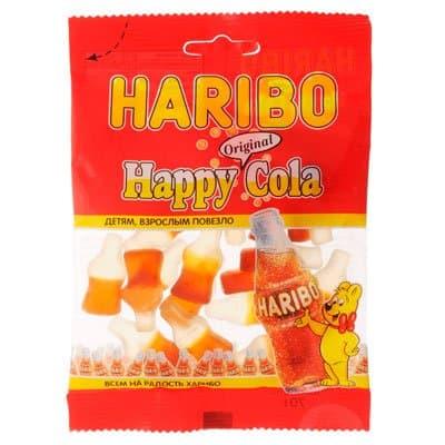 Мармелад жевательный Haribo Happy Cola Веселая Кола 70гр