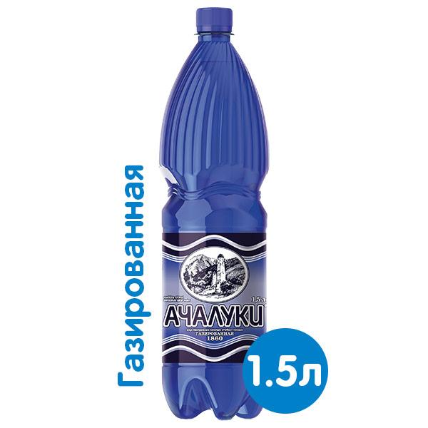 Вода Ачалуки 1.5 литра, газ, пэт, 6 шт. в уп. фото