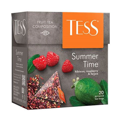 Tess / Тесс Summer time с гибискусом, малиной, и ароматом фейхоа (20пир.) фото