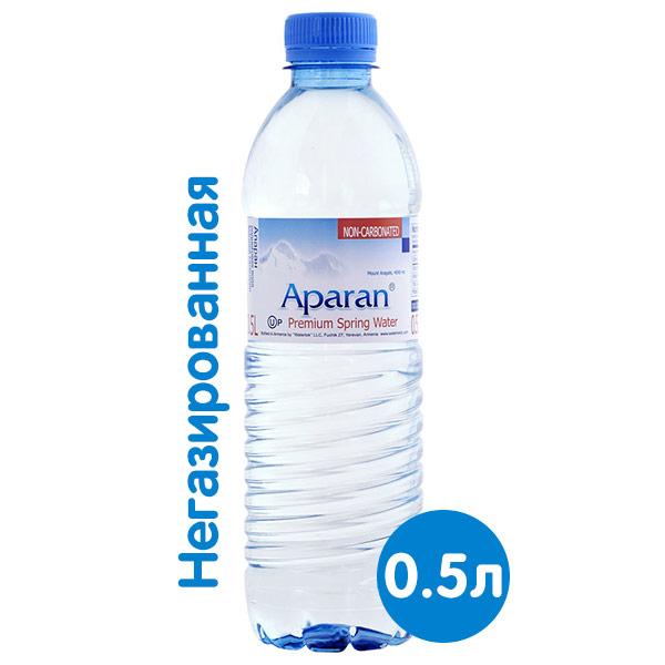 Вода Апаран 0.5 литра, без газа, пэт, 12 шт. в уп.