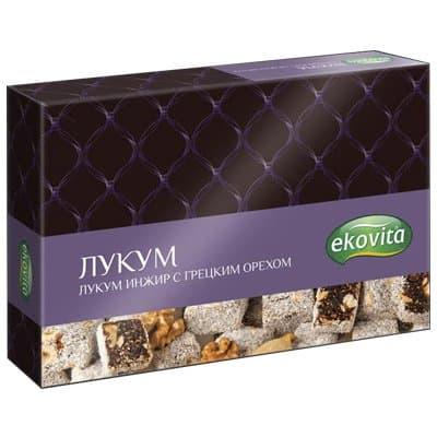 Лукум Ekovita инжир с грецким орехом 225гр
