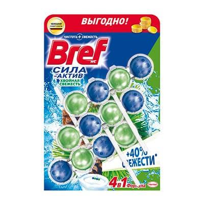 Чистящее средство для унитаза Bref сила-актив хвойная свежесть 3х50г фото