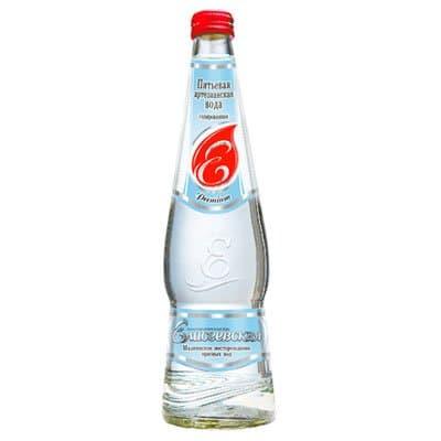 Елисеевская артезианская 0.5 литра, газ, стекло, 20шт. в уп.