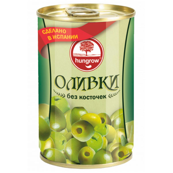 Оливки Hungrow без косточек 300 гр фото