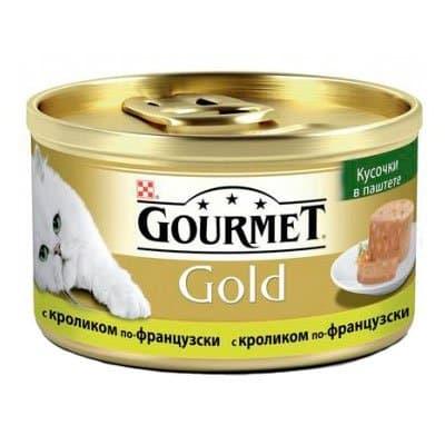 Корм для кошек Gourmet Gold кусочки в паштете с кроликом по-французски (85гр) (24шт) фото