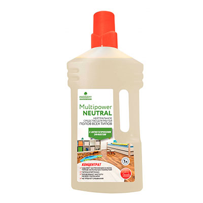 Средство для мытья всех видов полов Prosept Multipower Neutral концентрат 1 литр фото