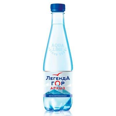 Вода Легенда гор Архыз 0.45 литра, без газ, пэт, 12шт. в уп.