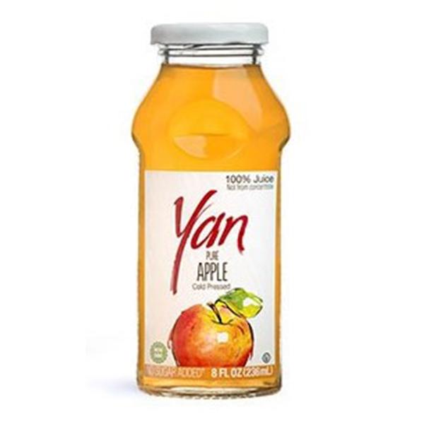 Сок YAN яблочный 0.25 литра стекло 12 шт. в уп..