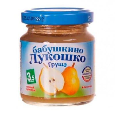 Пюре Бабушкино Лукошко груша (100гр) (6шт.)