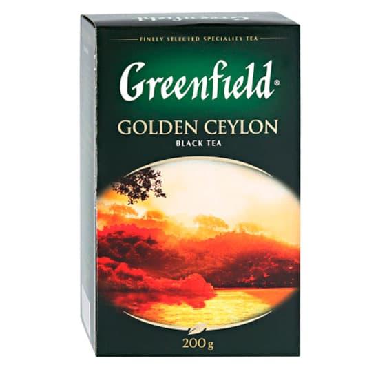 Чай Greenfield Golden Ceylon черный, листовой 200 гр. фото