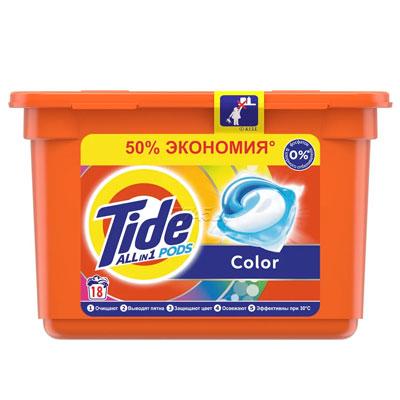 Гель-капсулы для стирки Tide Color 15 шт фото
